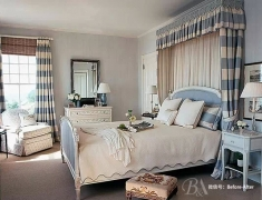 【色彩家】黄昏蓝卧室,拥抱温暖享受宁静