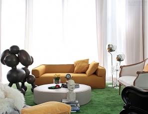 设计师孟也玩转当代艺术--《艾力枫社》700平米别墅