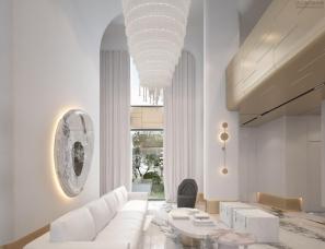 孟也设计--深圳招商双玺别墅600m²设计方案