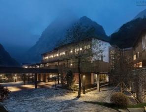 西安本末装饰设计--少华山石门半山度假酒店