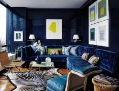 【色彩家】藏蓝色客厅,沉静的雅致之美