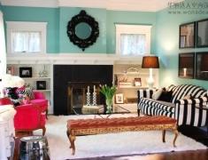 家居陈设篇 Eclectic Bungalow living room 起居室