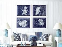 【色彩家】摩纳哥蓝客厅,浪漫融化静谧