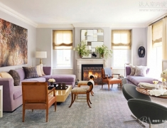 【色彩家】兰紫色客厅,谁教白马踏梦船