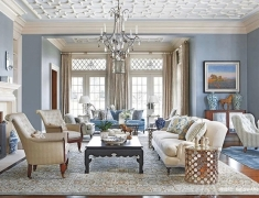 【色彩家】灰蓝色客厅,轻吟浅唱平静心