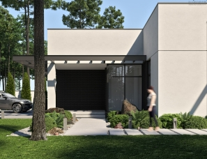 【首发】Bezmirno Architects--black-white-house