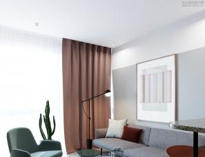 Lera Brumina设计--45 sq meters apartment