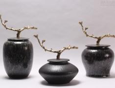 陶瓷配铜系列新中式摆件赏析
