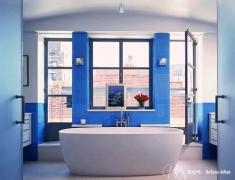 【色彩家】维多利亚蓝卫生间,低调大气之美