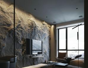 高级黑也可以这么美,承载自然的舒适空间