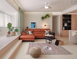 巢空间设计--台北 30 坪缤纷北欧风公寓
