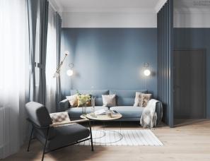 Studio LESH--圣彼得堡 95m²北欧风公寓