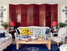 【色彩家】Chinoiserie客厅,演绎中西合璧的奢华诗意
