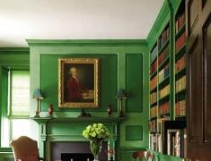 【色彩家】草绿色客厅,古典韵律美