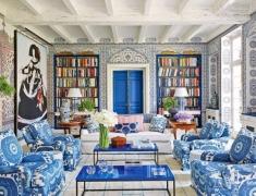 【色彩家】蓝白青花客厅,一袭素雅,清婉脱俗