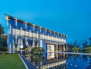 广州共生形态设计--南沙滨海花园销售中心