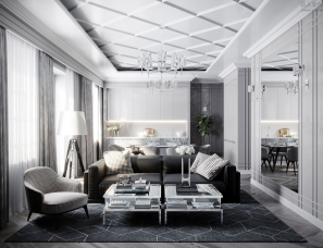 Vladislava Torgonsky设计-- Living room and kitchen