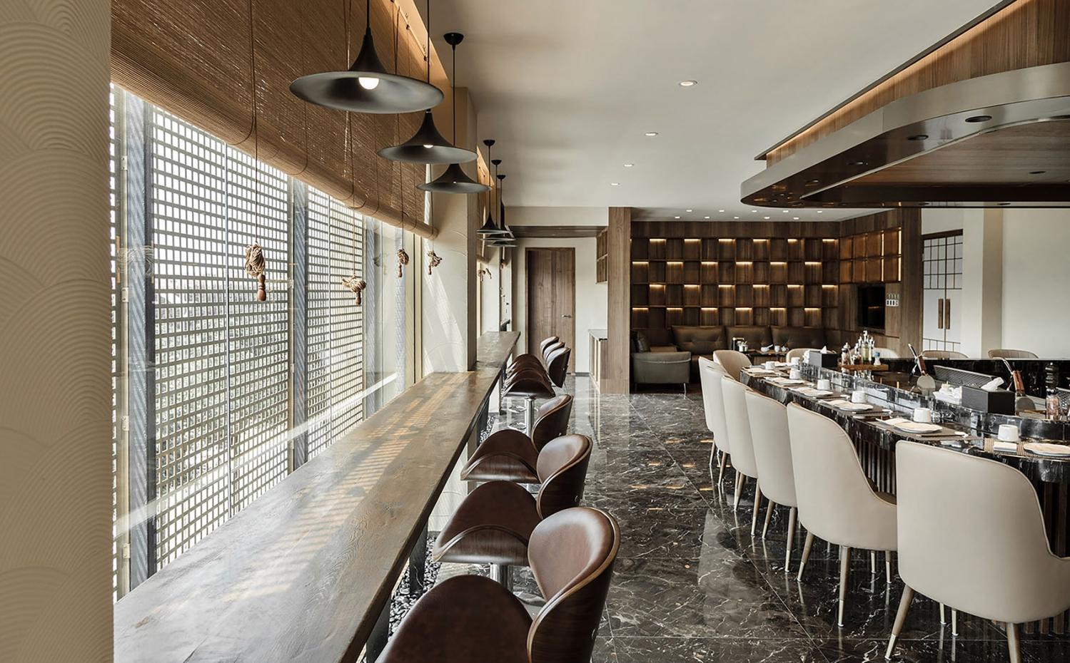 合作舍建筑事务所--得意日式铁板料理餐厅