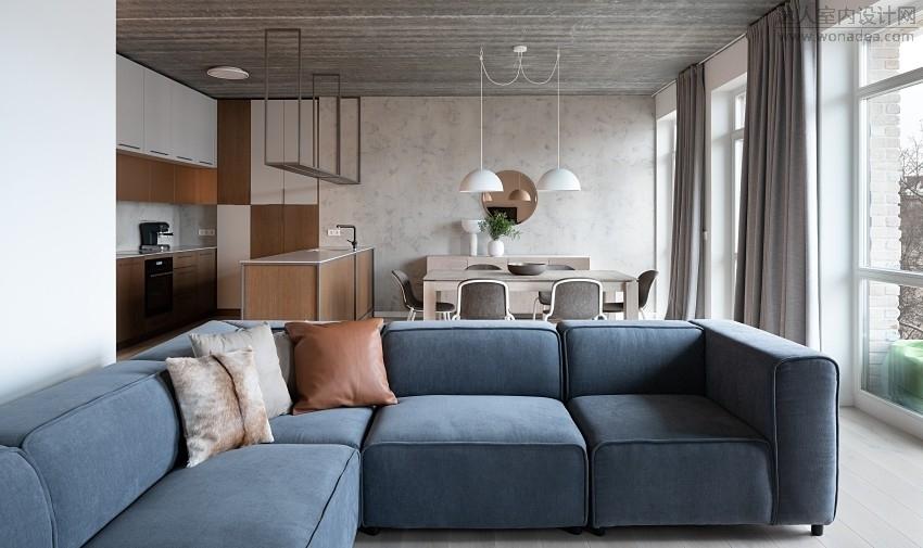 Petreikiene--立陶宛125㎡灰泥日系公寓