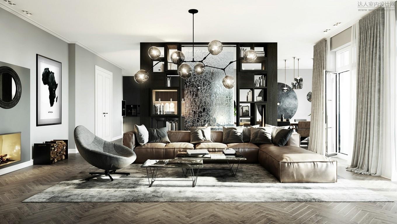 现代居所的魅力,时尚而优雅的理性居所
