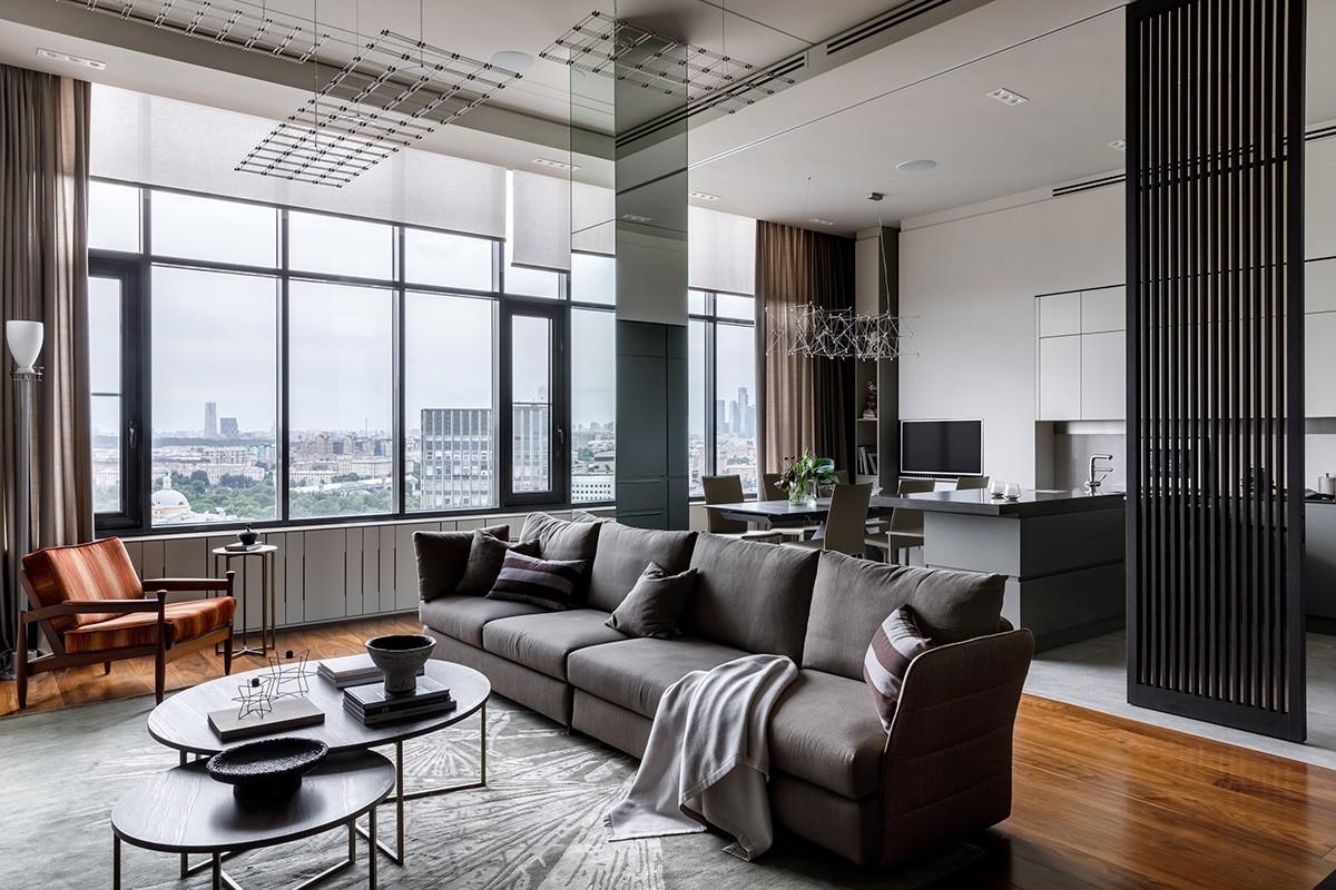 decoradesign--156㎡ 室内做一道格栅移门,让空间更灵活