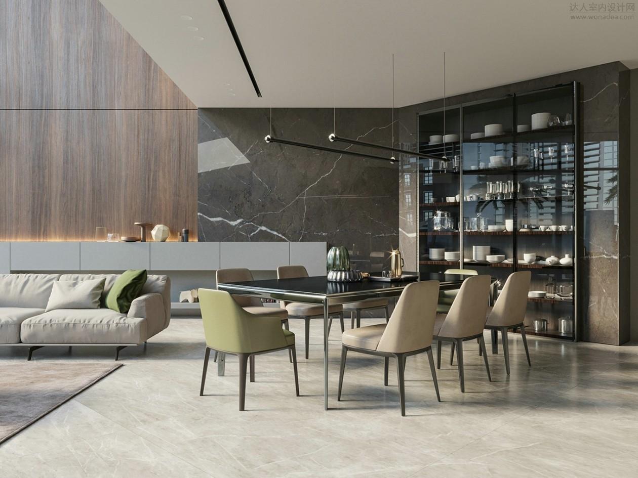 极简大平层 320㎡大气质感的私人别墅