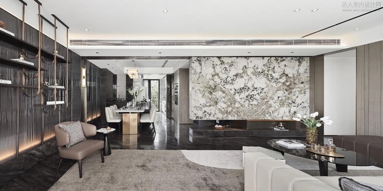 深朴悦设计--广州白云人和项目龙湖云来下叠样板房