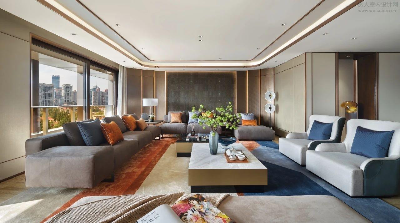 梁志天设计   上海嘉天汇1701大平层样板间