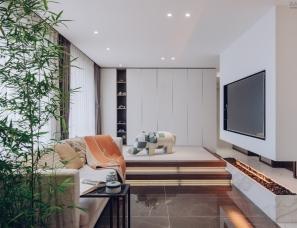 杨婷设计--现代简约风住宅,三室两厅两卫一厨