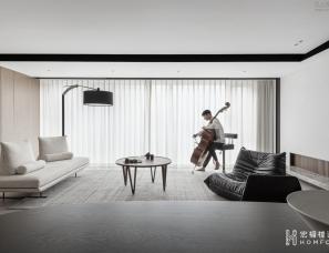 宏福樘设计   成都紫檀180m²私宅  听时