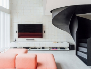 Arquitetura Nacional--59m²黑色旋转楼梯复式公寓