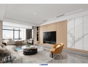 凯派设计--《慕白》前海东岸住宅现代风格