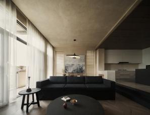 简璞设计--重庆南山脚下的侘寂风私宅400㎡