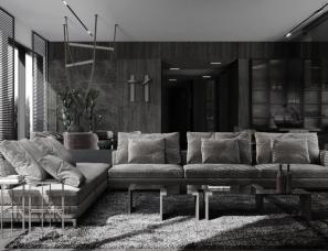 The One Architectura--暗色系质感私宅,时尚精致之家