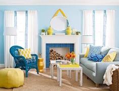 [配色]20个蓝色+黄色空间设计大集合