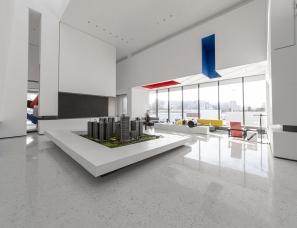 道胜设计--茂名保利东江小区三期销售中心 致敬蒙德里安