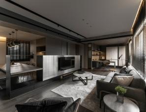 天坊设计---高级灰色系空间,不期而遇的精致美好