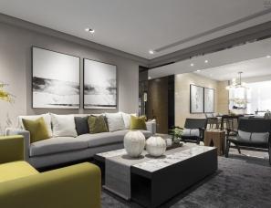 台中珥本设计--广东保利地产中山国际广场王座样板房