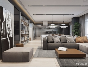 Yodezeen Design--strong interior with a soft nature