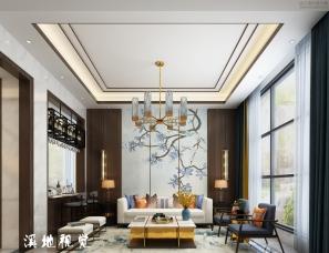 新中式别墅效果图表现