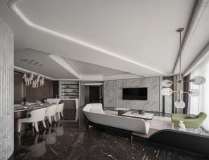 卡纳设计--青岛海天公馆样板房270㎡