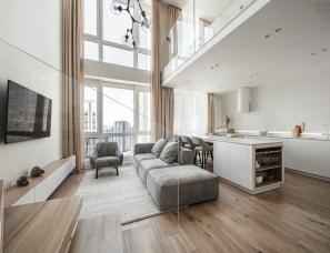 极简白的质感美,优雅而舒适的LOFT居所