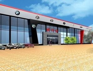 汽车4S店建筑外观设计案例效果图
