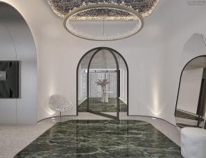 孟也设计--北京碧水庄园1100m²别墅设计方案