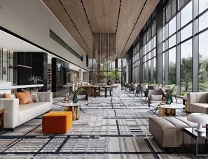 李益中空间设计+众睦设计丨温州首开中庚·香開萬里售楼处
