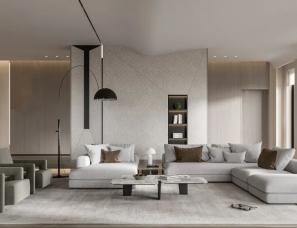 上海茧界设计--暖色调的油画美墅 别墅设计方案