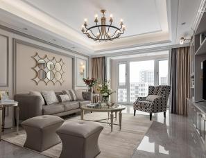 当高级灰遇上小轻奢,完美打造恰到好处的优雅美式空间!