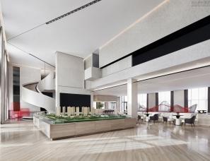 柏舍设计--青岛华皓锦域销售中心