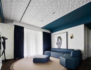 黎水仁佳设计--私人住宅200㎡ 沉入式艺术体验