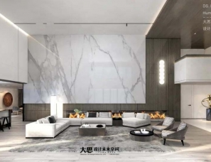 大思丨极简别墅-简美舒适的白灰艺术.